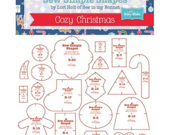 SALE Sew Simple Shapes for Cozy Christmas by Lori Holt of Bee in my Bonnet plastic templates