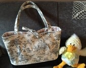 French Country Toile Fashion Diaper Bag Tote made ready to ship