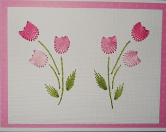 Pink Tulip Note Cards/5 Pack
