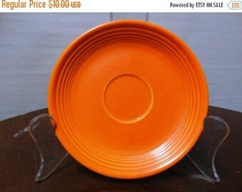 Sale Vintage Genuine Fiesta Kitchenware Orange Coffee Saucer retro 50's fruit bowl, classic Dinnerware Art Deco style HLO, Made in USA
