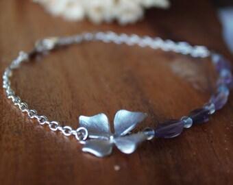 Amethyst Bracelet, Layer Stacking Bracelet, Gemstones