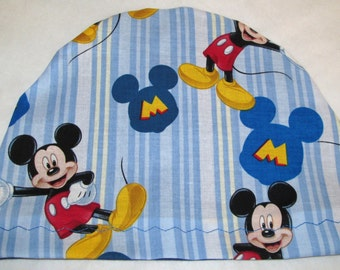 Kid's Mickey Mouse  Lightweight Hat -Chemo, Cancer, Alopecia, Sleep Free USA Ship