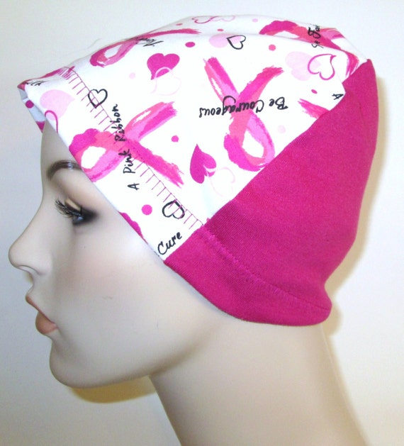 Breast Cancer Inspirational Words Lightweight Hat - Chemo, Cancer, Alopecia,Sleep Cap, Summer Chemo Hat