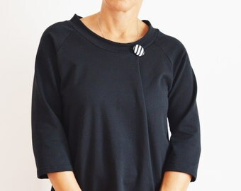 Short sleeve sweatshirt,women clothing,women sweatshirt,organic clothing, organic sweatshirt,straigth siluette sweatshirt