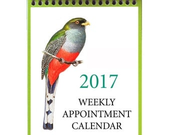 2017 Weekly Calendar--Original Bird Art