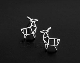 Deer Geometric Silvery Stud  Earring Post Finding (ET029B)