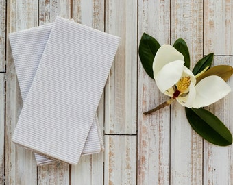 Khaki Seersucker Cloth Napkins  by Dot and Army