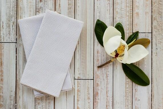 Khaki Seersucker Cloth Napkins  by Dot and Army
