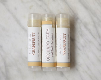 Shea Butter Grapefruit Lip Balm