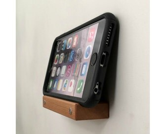 Wooden Cell Phone Holder, Wall Mountable