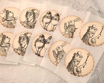 Alice in Wonderland Stickers Seals - Assorted