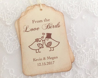 From the Love Birds Tags Wedding Favor Tags Bird Seed