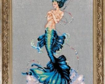 Aphrodite Mermaid Counted Cross Stitch Pattern, by Nora Corbett, Mirabilia Designs, WI