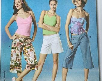 Burda Young Capri Shorts Pattern 8041