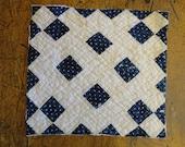 Antique Quilt Piece   Vintage Quilt Piece    Old Quilt PIece    Cutter Quilt Piece 13.5 x 14