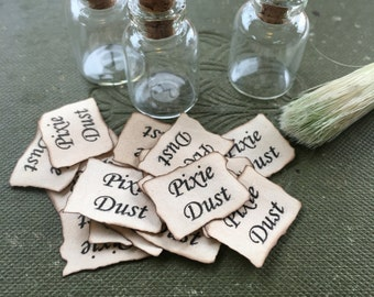 Labels x 15 suits tiny vials - fairy magic, pixie dust etc, party favours, handmade
