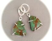 Turquoise Earrings #2, Kingman Turquoise, Gemstone Jewelry, Artisan