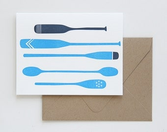 Oars + Paddles Note Card