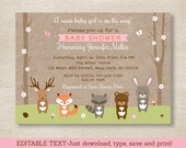 Pink Woodland Animals Bab...