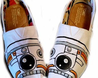 BB 8, Toms, Star Wars, Painted Shoes, Scifi, Fantasy, Wedding, Womens Shoes, Shoes Included