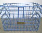 Vintage Blue Detroit Locker Basket