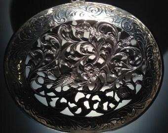 1920 Dutch Sterling Silver Bon Bon Spoon with Grouse by Zaanlandse Zilversmederijen n.v./b.v.