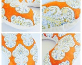 OASIS BOPPY Cover  / Zipper closure  /  Modern cotton  print with soft  flat minky / available Orange and  Lavender / Great baby shower gift