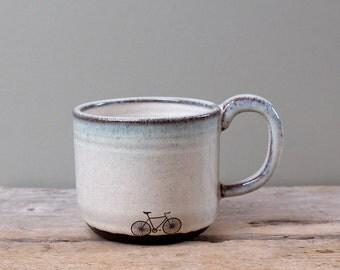 Blue Ceramic Bike Mug