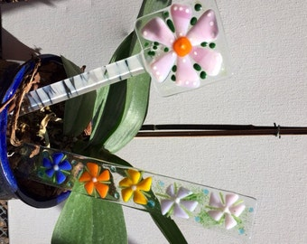 Fused Glass Plant Stake