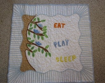 Chenille baby quilt - REDUCED