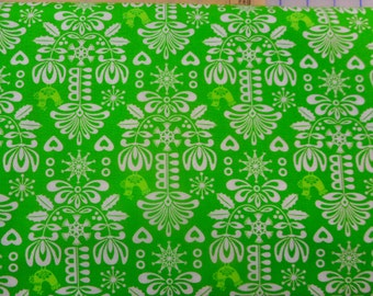 Horizon green fabric - CLEARANCE