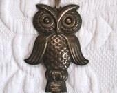 Owl Pendant whistle  . owl  pendant . owl whistle . sterling whistle  . Reed and Barton owl whistle sterling pendant . reed and barton