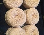 6 cakes nubby cotton nylon blenb thread.