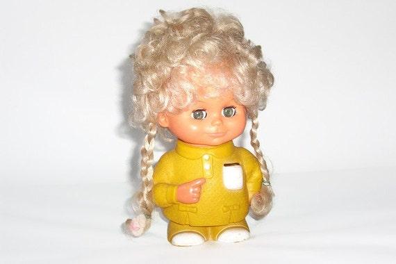 Vintage Regal Doll Bank - Vintage Hard Plastic Doll