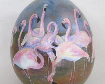 Flamingo Gourd Vessel