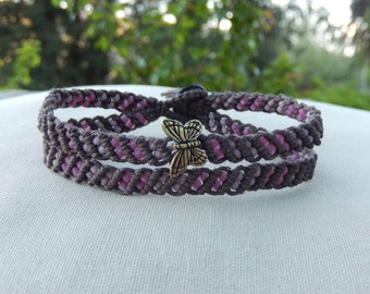Butterfly Hemp Anklet - Natural Jewelry