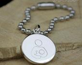 Silver Breastfeeding Awareness Symbol Keychain Bag Purse Charm Multiple Discount Advocacy