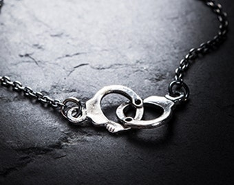 LOVERS handcuffs necklace