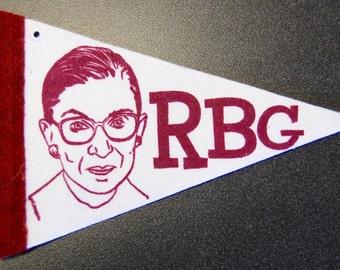 Ruth Bader Ginsburg pint-sized pennant / ornament