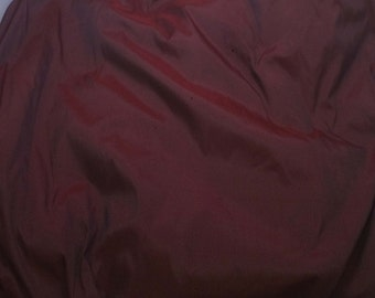 Burgundy Red - Faux Silk Taffeta Fabric - fat 1/4