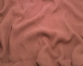 Crinkle Silk Chiffon Fabric - Dusty Lavender - 1/2 Yard
