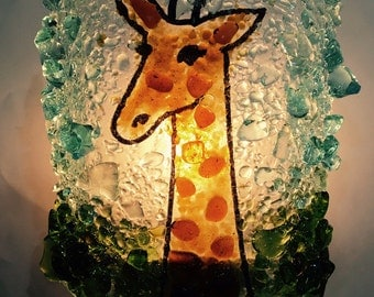 "Recycled Glass ""Giraffe"" Night Light by Reborn Glass"