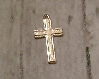 Cross Silver Tone - classic lines - Christian/Inspirational - low shipping