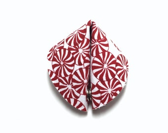 Peppermint Candy Fabric Fortune Cookie.  Add your own fortune!