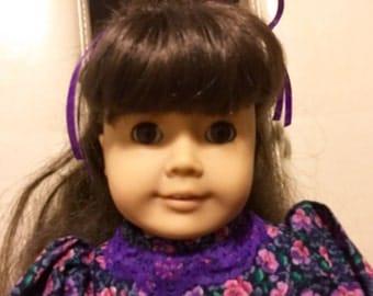 Vintage Samantha American Girl Doll, Purple dress, Original American Girl, 18 inch Doll, Vintage Samantha, Samantha doll