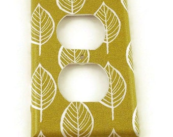 Switchplate Light Switch Cover Outlet in Olive and Leaves  (220O)