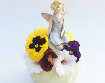 Fairy Flower Brick ceramic miniature vase