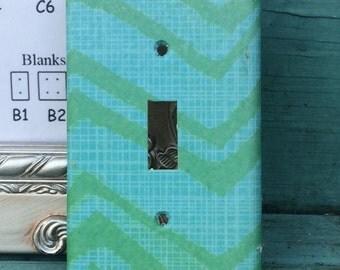 Custom Switchplate Green Blue
