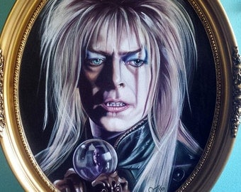 King of the Goblins  Tribute to Bowie Acrylic painting