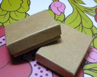 Pre Holiday Stock Up Sale 20 Pack Kraft Cotton Filled 11 Size Cotton Filled Boxes 1  7/8 Inch by 1  1/4 inch by 5/8 Inch Size